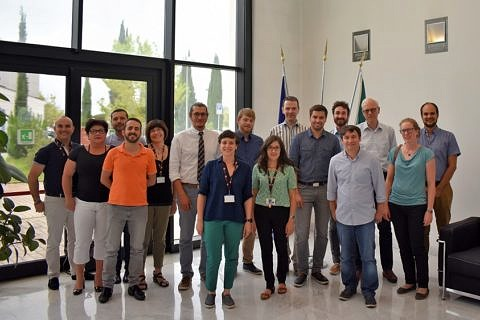 group picture with all atendees of the project meeting in Pisa